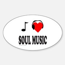 SOUL MUSIC Oval Decal