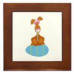 Bunny Sitting on Easter Egg Framed Tile