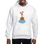 Bunny Sitting on Easter Egg Hooded Sweatshirt