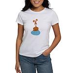 Bunny Sitting on Easter Egg Women's T-Shirt