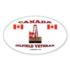 Canada Oilfield Veteran Oval Decal