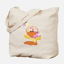 Cute Baby Girl Ducky Duck Tote Bag