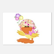 Cute Baby Girl Ducky Duck Postcards (Package of 8)