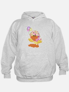 Cute Baby Girl Ducky Duck Hoodie