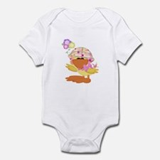 Cute Baby Girl Ducky Duck Infant Bodysuit
