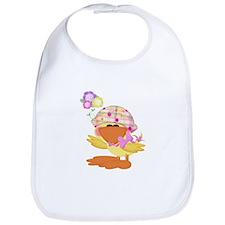 Cute Baby Girl Ducky Duck Bib
