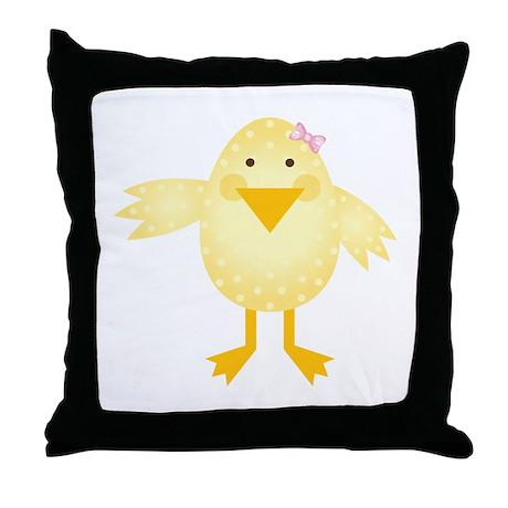 Cute Little Girl Chick Throw Pillow