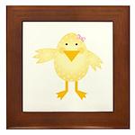 Cute Little Girl Chick Framed Tile
