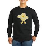 Cute Little Girl Chick Long Sleeve Dark T-Shirt