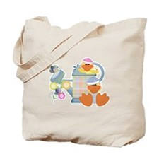 Cute Garden Time Baby Ducks Tote Bag