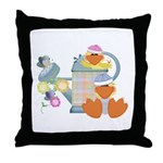 Cute Garden Time Baby Ducks Throw Pillow