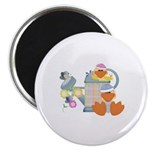 Cute Garden Time Baby Ducks Magnet