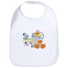 Cute Garden Time Baby Ducks Bib