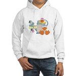 Cute Garden Time Baby Ducks Hooded Sweatshirt