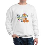 Cute Garden Time Baby Ducks Sweatshirt