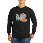 Cute Garden Time Baby Ducks Long Sleeve Dark T-Shi