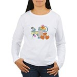 Cute Garden Time Baby Ducks Women's Long Sleeve T-