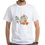 Cute Garden Time Baby Ducks White T-Shirt