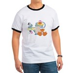 Cute Garden Time Baby Ducks Ringer T