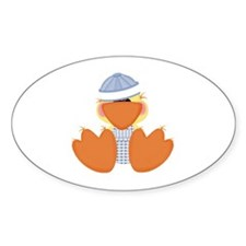 Cute Baby Boy Ducky Oval Decal
