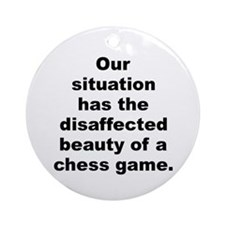 Alan moore quotes Ornament (Round)