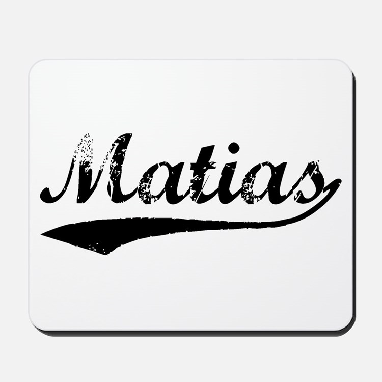 Vintage Matias (Black) Mousepad