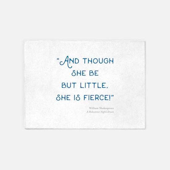 Little but Fierce! - 5'x7'Area Rug