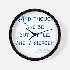 Little but Fierce! - Wall Clock