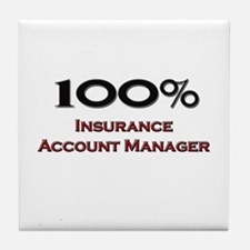 100 Percent Insurance Account Manager Tile Coaster