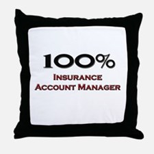 100 Percent Insurance Account Manager Throw Pillow
