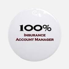 100 Percent Insurance Account Manager Ornament (Ro