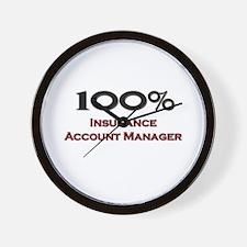 100 Percent Insurance Account Manager Wall Clock