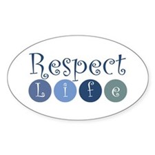 Respect Life Oval Sticker (50 pk)