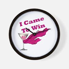 I Came To Win (1) Wall Clock