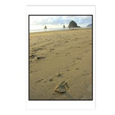 Footprints on the Beach Postcards (Package of 8)