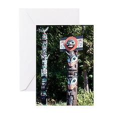 Unique Totem poles Greeting Card