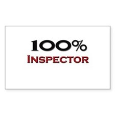 100 Percent Inspector Rectangle Decal