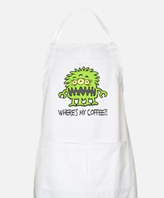 Where's My Coffee Monster BBQ Apron