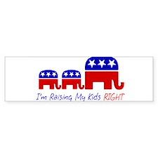 I'm Raising My Kids Right Bumper Car Sticker
