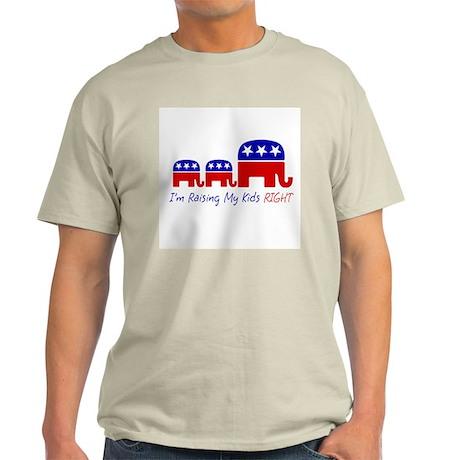 I'm Raising My Kids Right Light T-Shirt