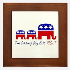 I'm Raising My Kids Right Framed Tile
