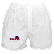 I'm Raising My Kids Right Boxer Shorts
