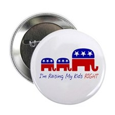 "I'm Raising My Kids Right 2.25"" Button"