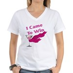 I Came To Win (2) Women's V-Neck T-Shirt