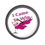 I Came To Win (2) Wall Clock