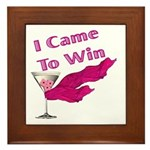 I Came To Win (2) Framed Tile