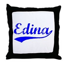 Vintage Edina (Blue) Throw Pillow