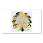 Time For Poultry2 Rectangle Sticker 50 pk)