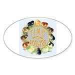 Time For Poultry2 Oval Sticker (50 pk)