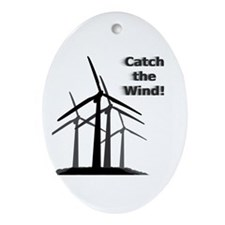Catch the Wind Oval Ornament